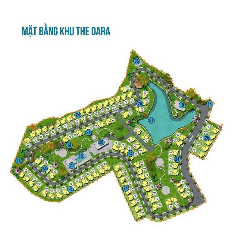 Mặt bằng khu The Dara của dự án Ivory Villas & Resort Hòa Bình