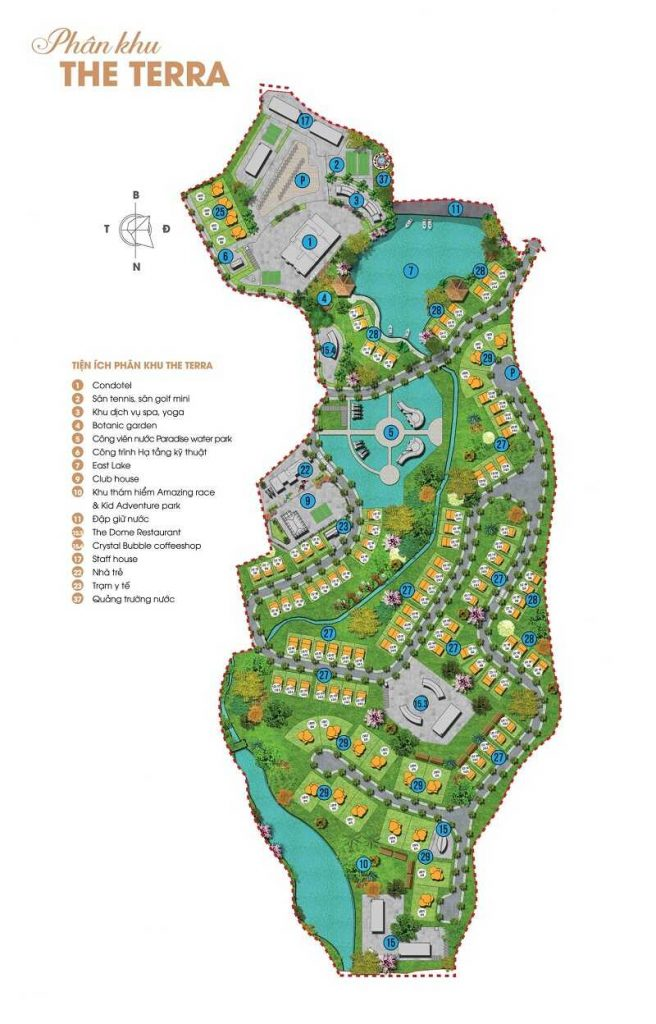 Mặt bằng khu The Terra của dự án Ivory Villas & Resort