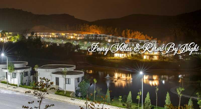 Ảnh thực tế giai đoạn 1 Ivory Villas & Resort về đêm
