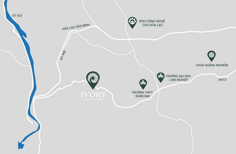 Vị trí dự án Ivory Villas & Resort