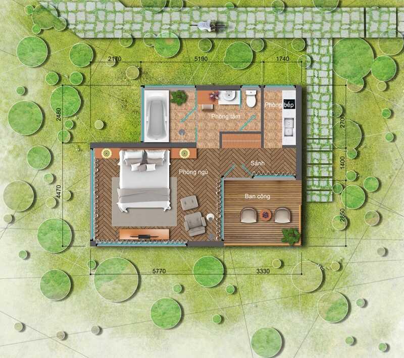 Thiết kế Bungalow Long Thành Luxury Resort Hòa Bình