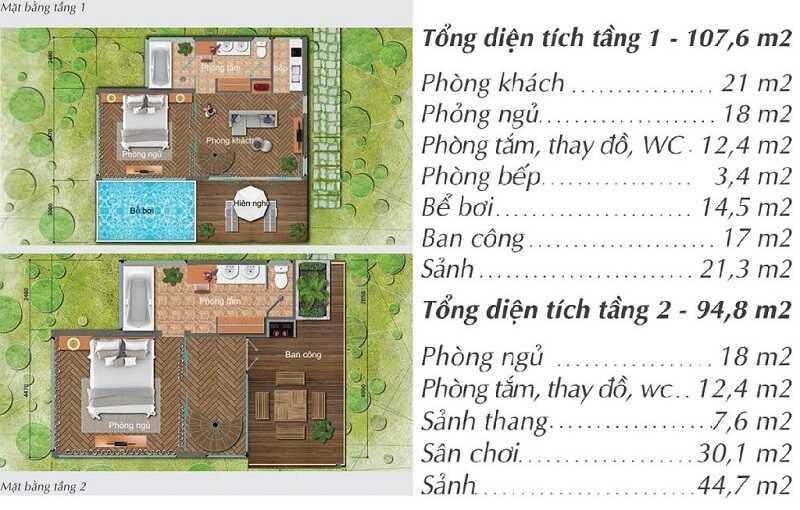 Thiết kế chi tiết Biệt thự Long Thành Hòa Bình Luxury Resort