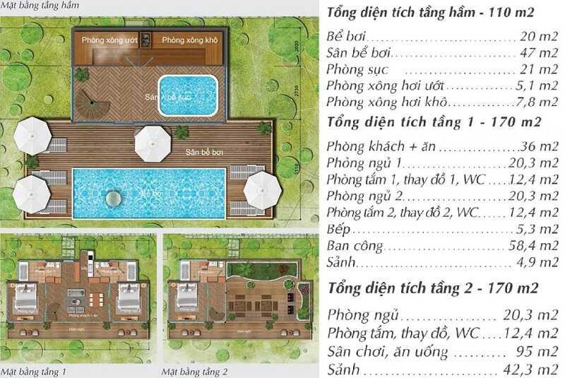 Thiết kế Villas 3 tầng Long Thành Luxury Resort Hòa Bình