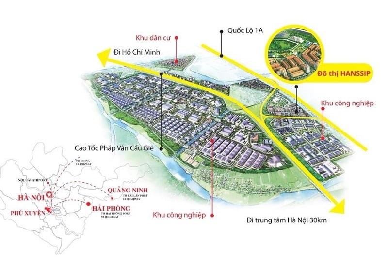 Dự án nằm ở vị trí đắc địa phía Nam Hà Nội