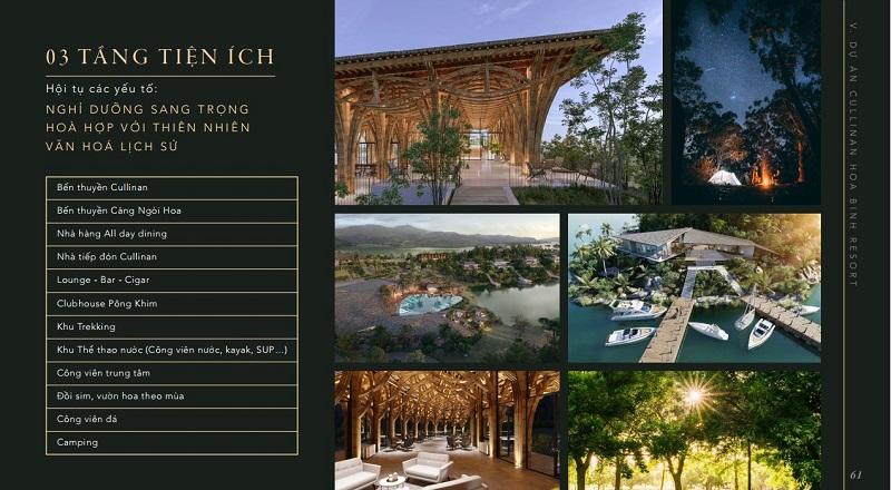 Tiện ích tại khu nghỉ dưỡng Cullinan Hòa Bình Resort
