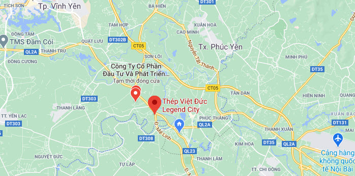 vị trí dự án việt đức legend city