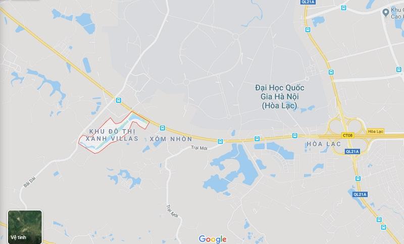Xem địa chỉ Xanh Villas Resort Thạch Thất qua Google Map