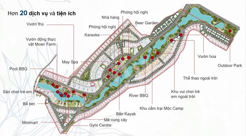 Danh sách tiện ích tại khu đô thị Xanh Villas Hòa Lạc