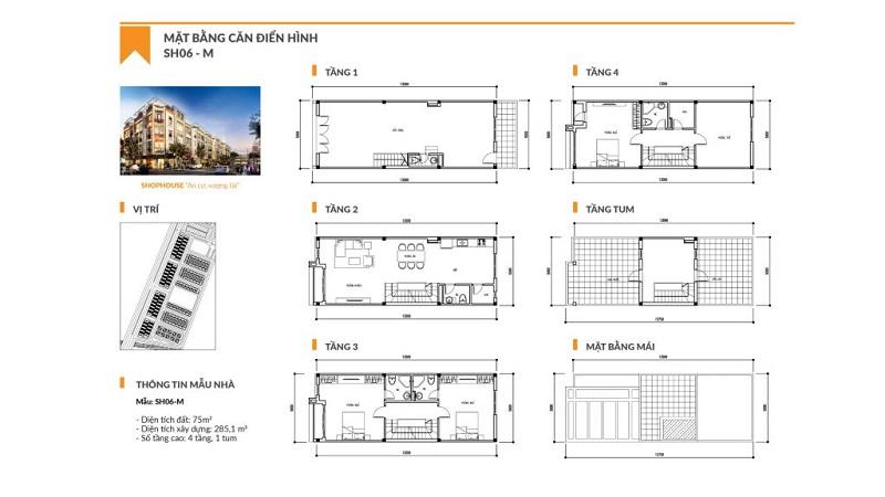 Thiết kế chi tiết Shophouse T&T Phố Nối Hưng Yên