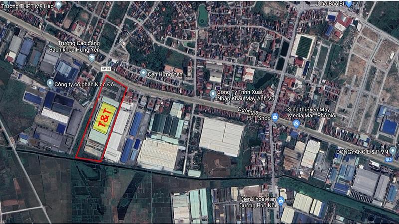 Xem vị trí dự án T&T Phố Nối Hưng Yên trên Google Map